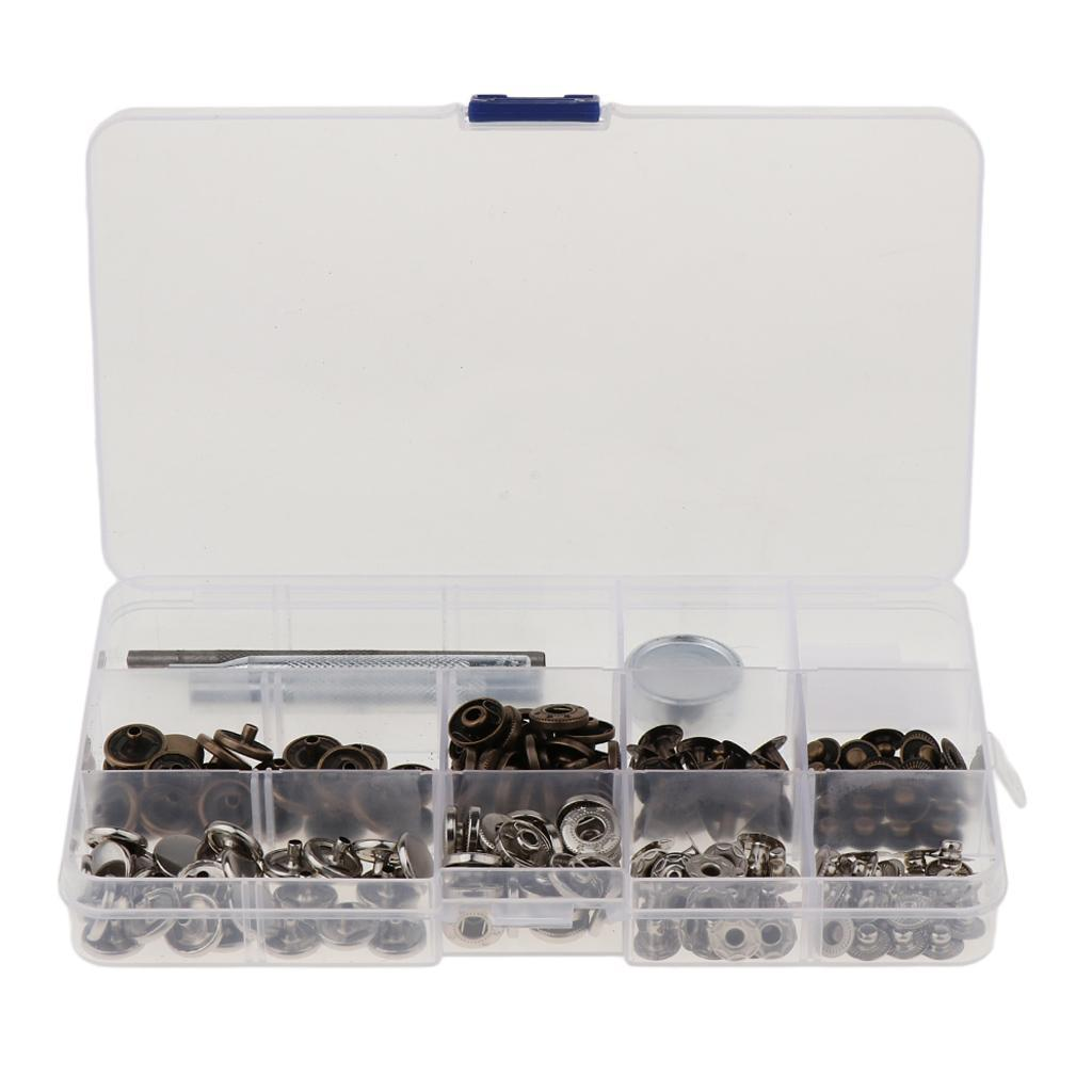 30-Sets-Leather-Craft-Snap-Fasteners-Button-Press-Studs-Clothes-Jeans-Fixing thumbnail 13
