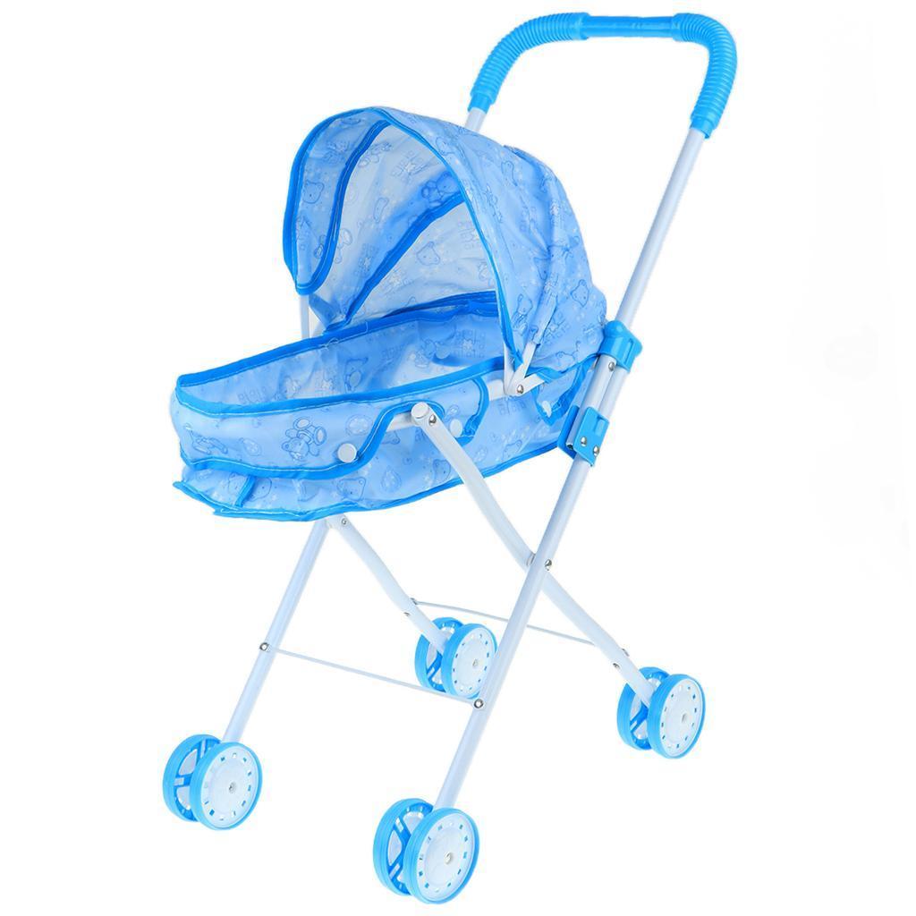 Foldable-Simulation-Pushchair-Stroller-Buggy-Pram-Pretend-Parent-Kids-Role-Play miniature 13