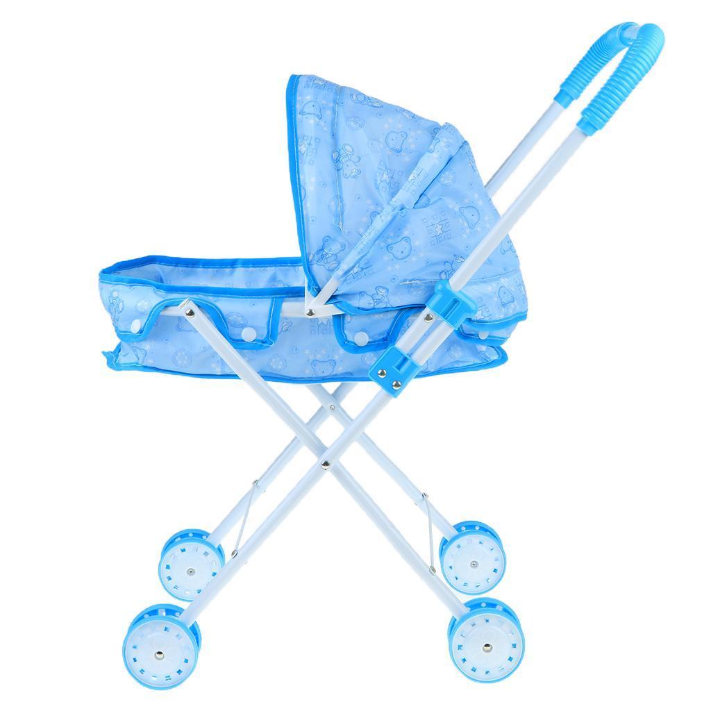Foldable-Simulation-Pushchair-Stroller-Buggy-Pram-Pretend-Parent-Kids-Role-Play miniature 12