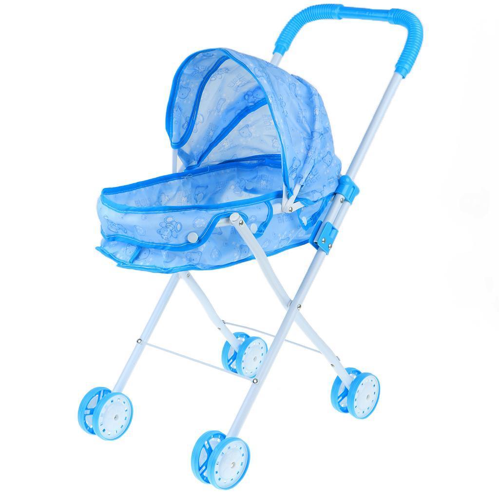 Foldable-Simulation-Pushchair-Stroller-Buggy-Pram-Pretend-Parent-Kids-Role-Play miniature 14