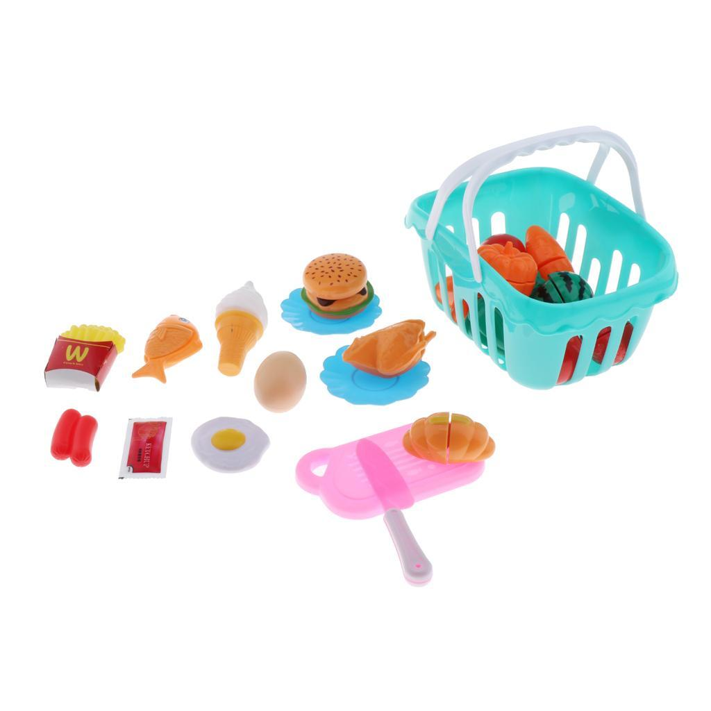 Kitchen-Cutting-Food-Set-Cooking-Toys-with-Cake-Fruit-Pizza-Storage-Basket thumbnail 9