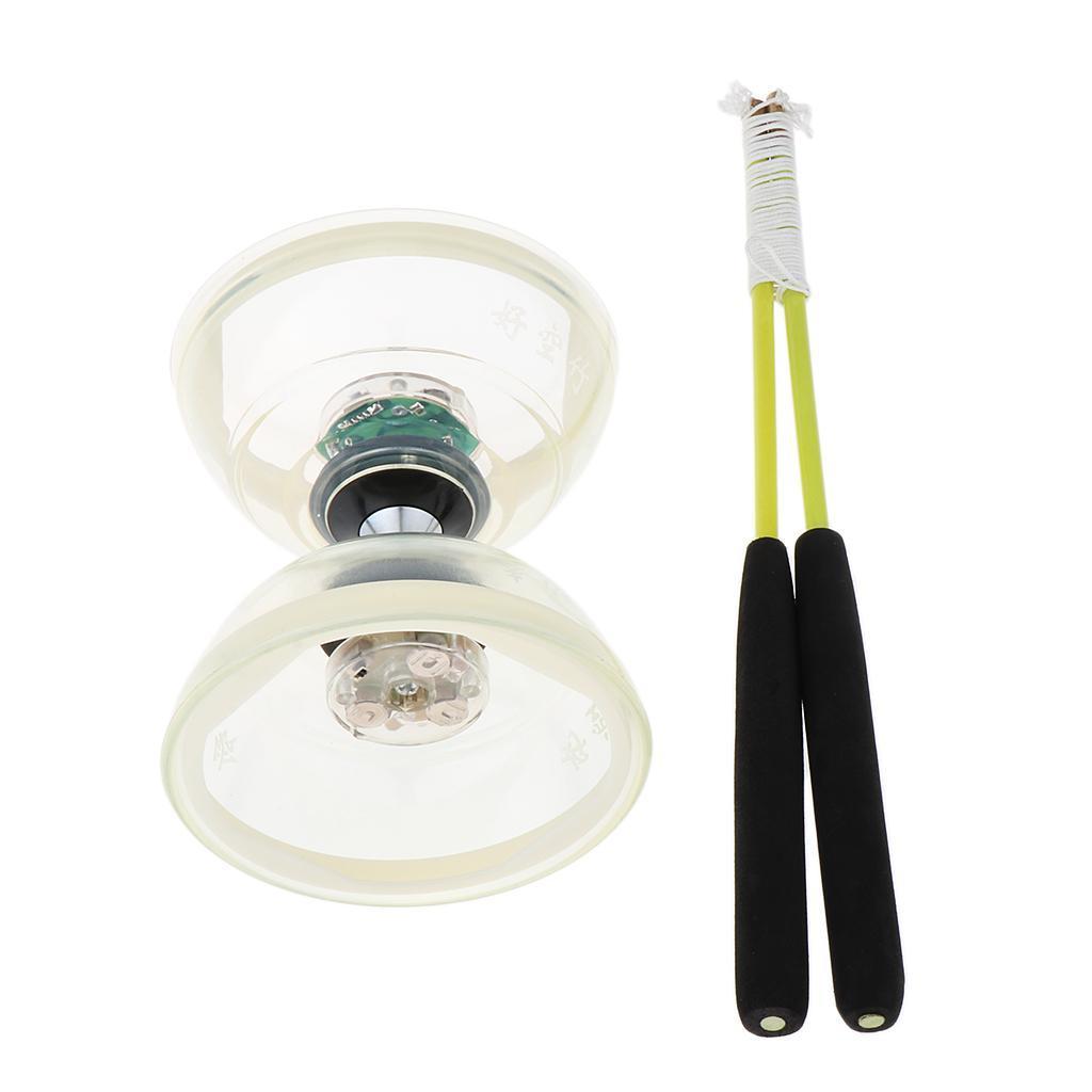 Giocattoli-Da-Giocoliere-Con-Triplo-Cuscinetto-A-Diabolo-con-luce-LED miniatura 15