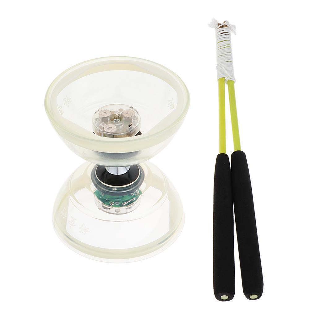 Giocattoli-Da-Giocoliere-Con-Triplo-Cuscinetto-A-Diabolo-con-luce-LED miniatura 16