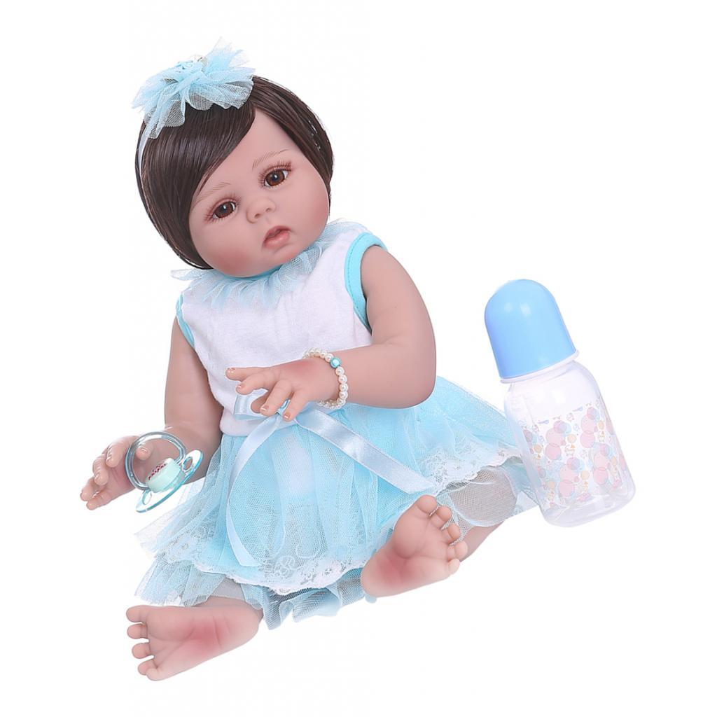 19-inch-Realistic-Babies-Dolls-Girls-Soft-Vinyl-Silicone-Kids-Gifts-Age-3 thumbnail 3