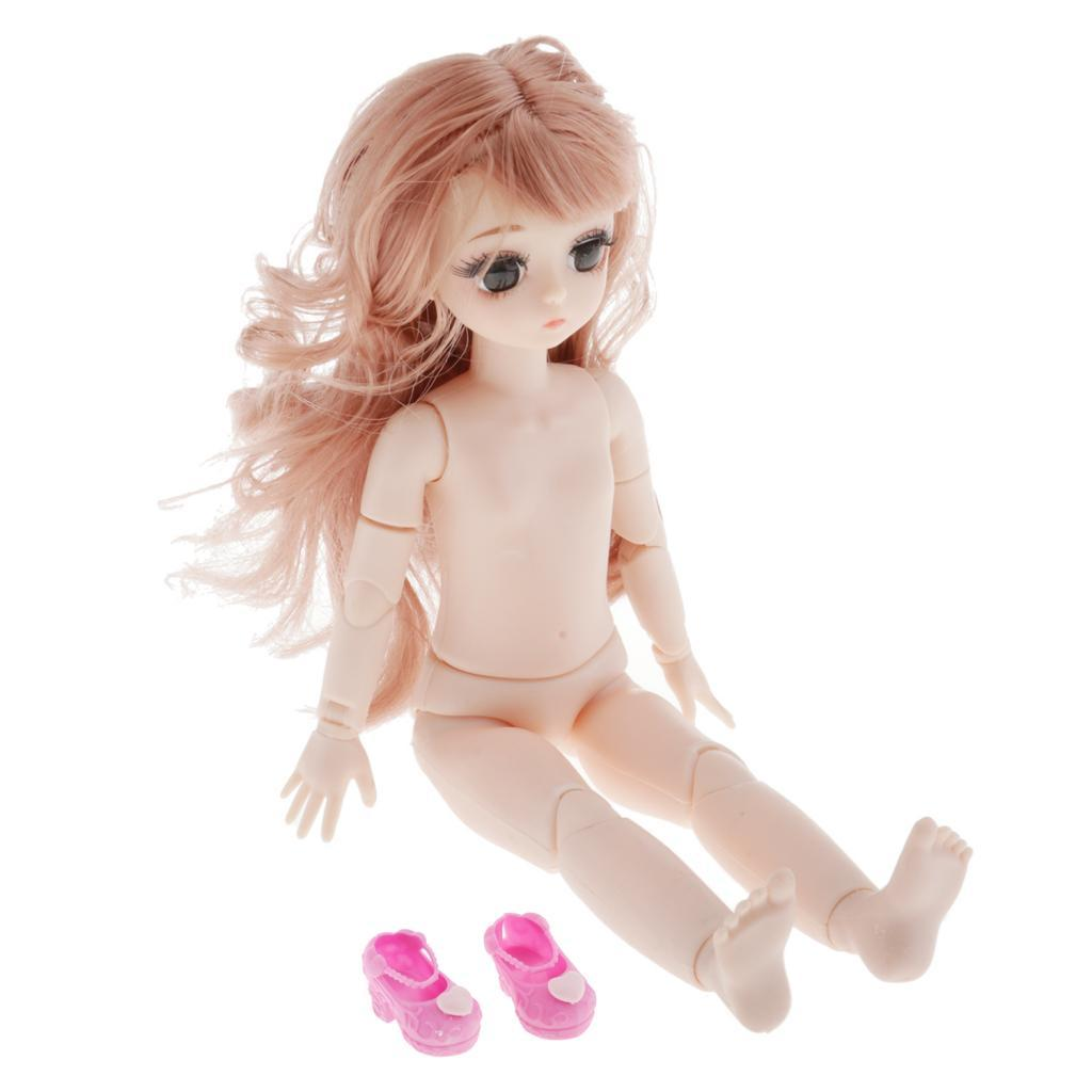 28cm-BJD-Baby-Girl-Doll-Nude-Body-Fashion-Dolls-DIY-Toy-for-Girls-Gifts thumbnail 4