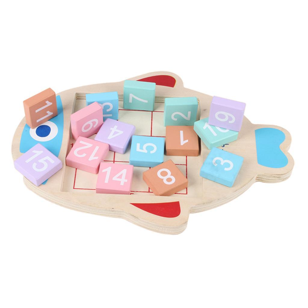 Jigsaw-Fish-Plate-Digital-Jigsaw-Toy-pour-enfants-Puzzle-Jouets-educatifs miniature 7