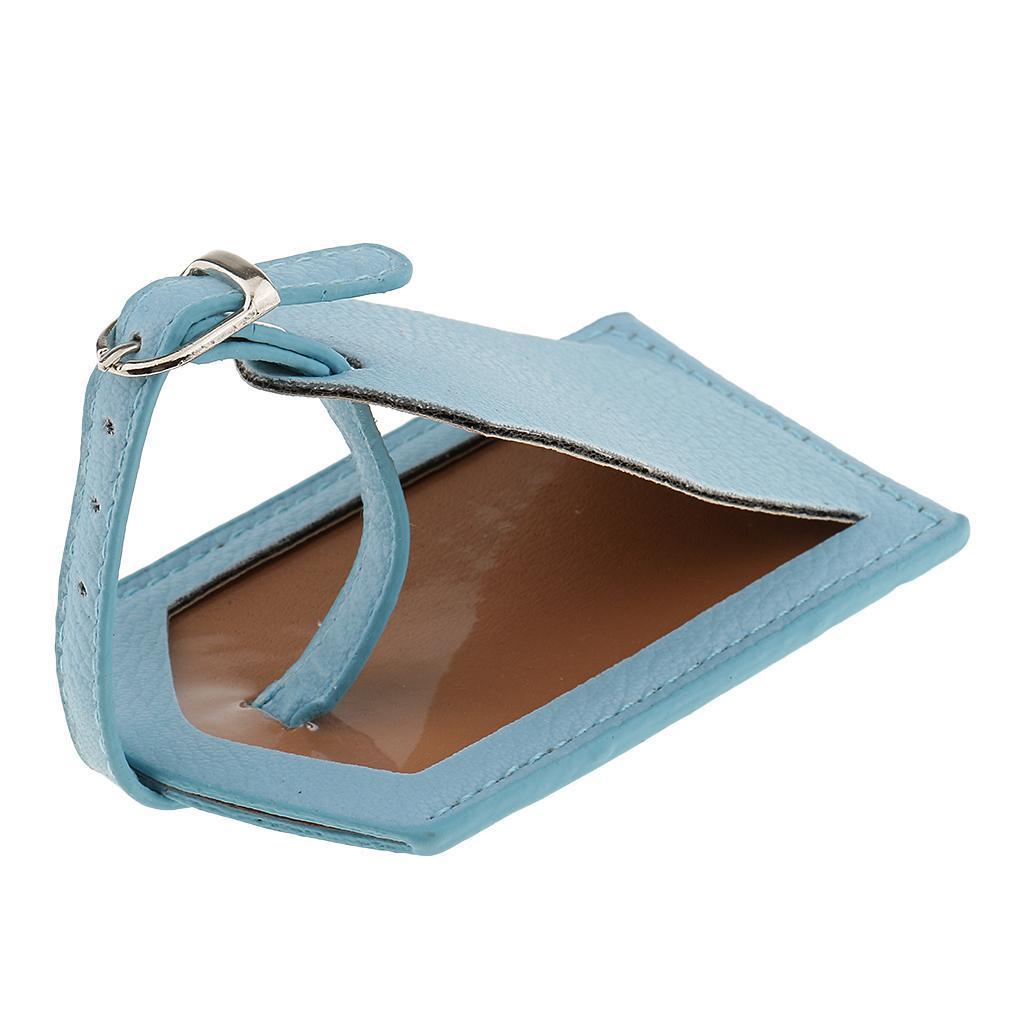 miniature 15 - Etiquette-De-Bagage-Valise-De-Voyage-En-PU-Cuir-D-039-identification