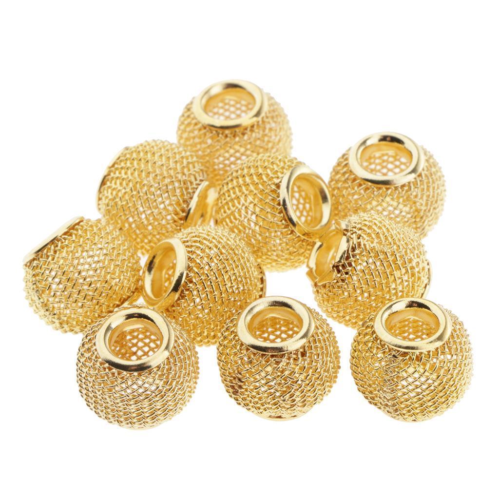 Indexbild 3 - 10 Stück Aushöhlen Metallperlen Spacer Perlen Zwischenperlen Für Schmuck