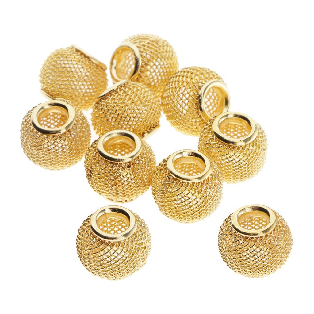 10x-evider-Entretoise-Grand-Trou-Perles-En-Vrac-Pendentifs-Bricolage-Bijoux miniature 3