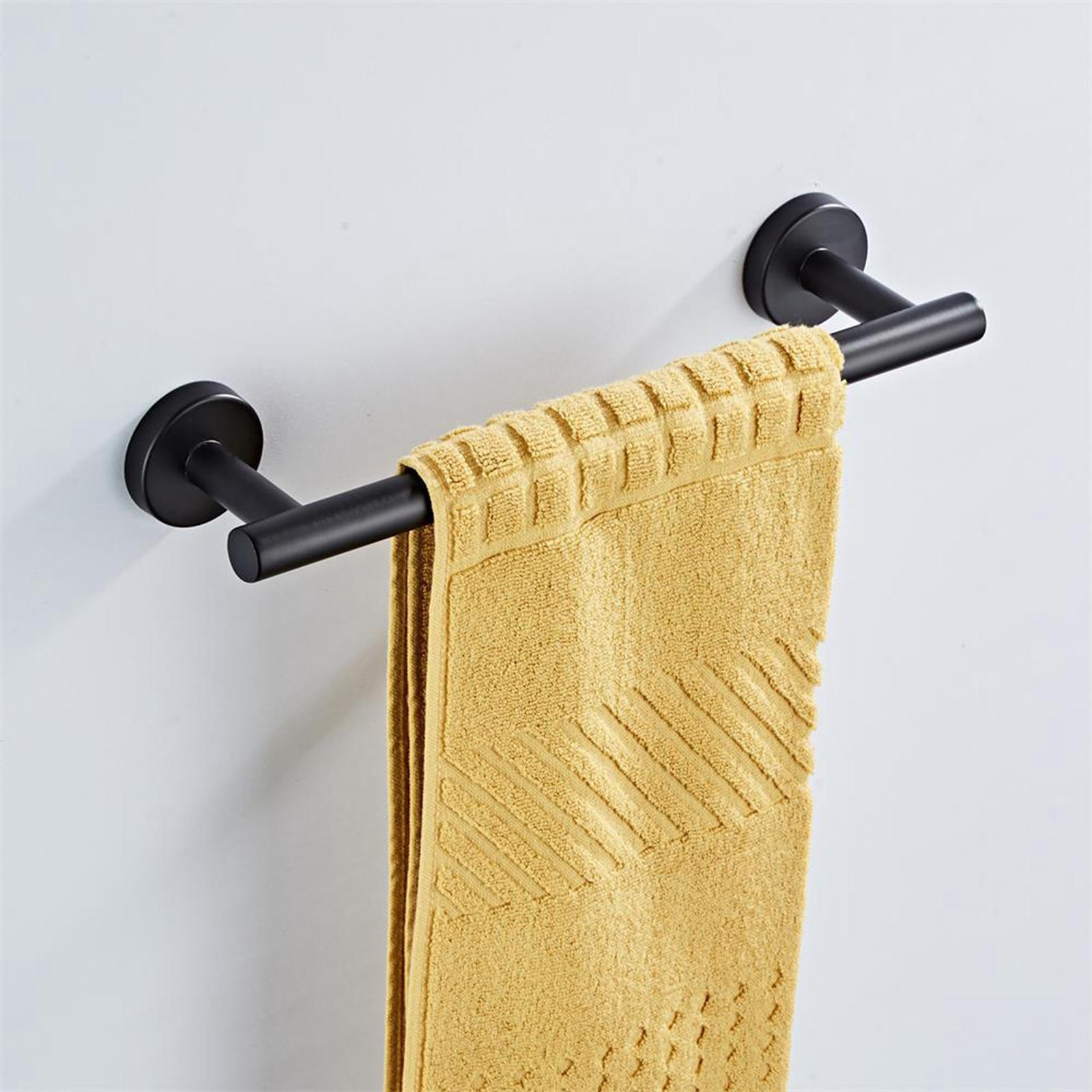 thumbnail 14 - 3x-Brushed-Robe-Hook-Toilet-Paper-Holder-12-034-Hand-Towel-Bar-Hardware-Set