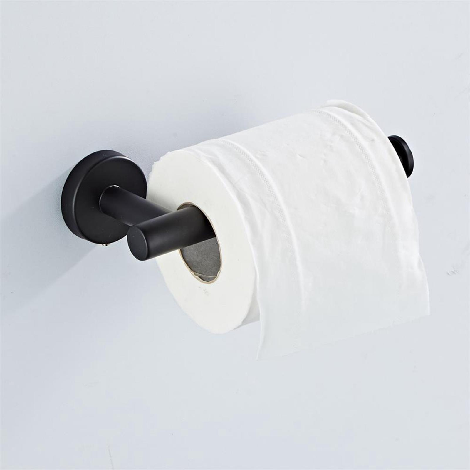 thumbnail 10 - 3x-Brushed-Robe-Hook-Toilet-Paper-Holder-12-034-Hand-Towel-Bar-Hardware-Set
