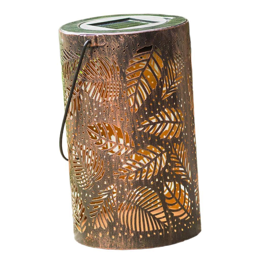 Lampe-etanche-De-Lanterne-Suspendue-Exterieure-Solaire-En-Metal-De-LED miniatura 10