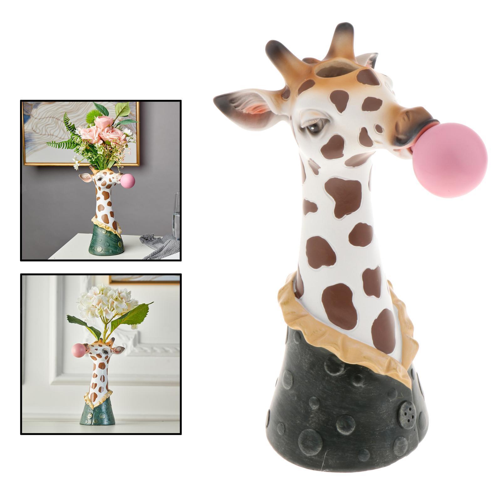 Indexbild 3 - Harz Tierkopf Trockenblume Vase Pflanzer Topf Home Office Bar Desktop Ornament