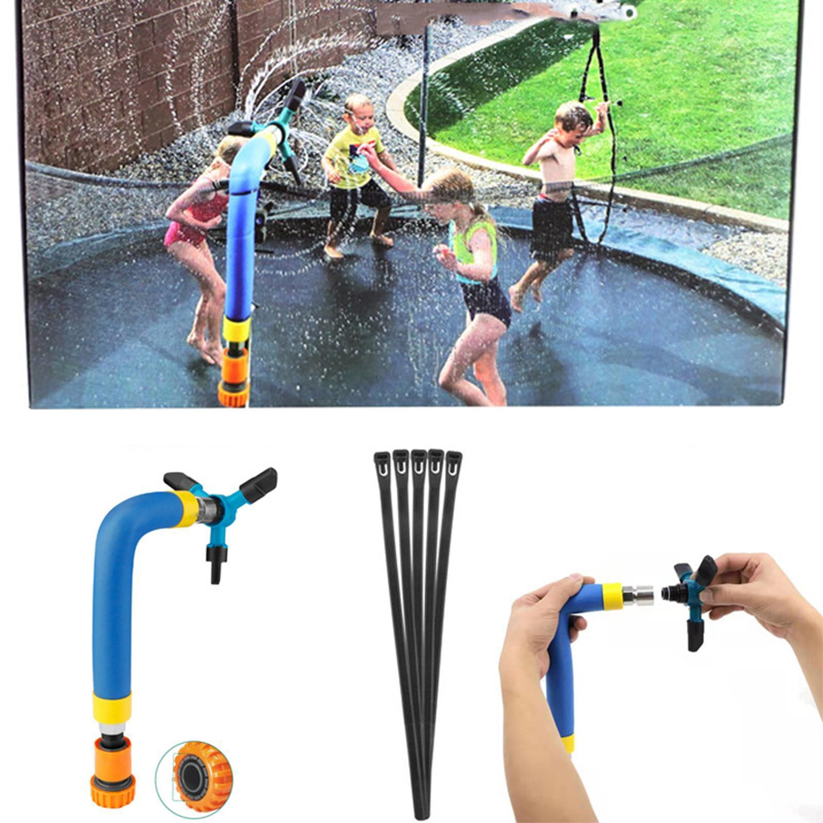 miniatura 16 - Trampolino di Acqua Sprinkler A Spruzzo Nebbia Giardino Estate Giochi