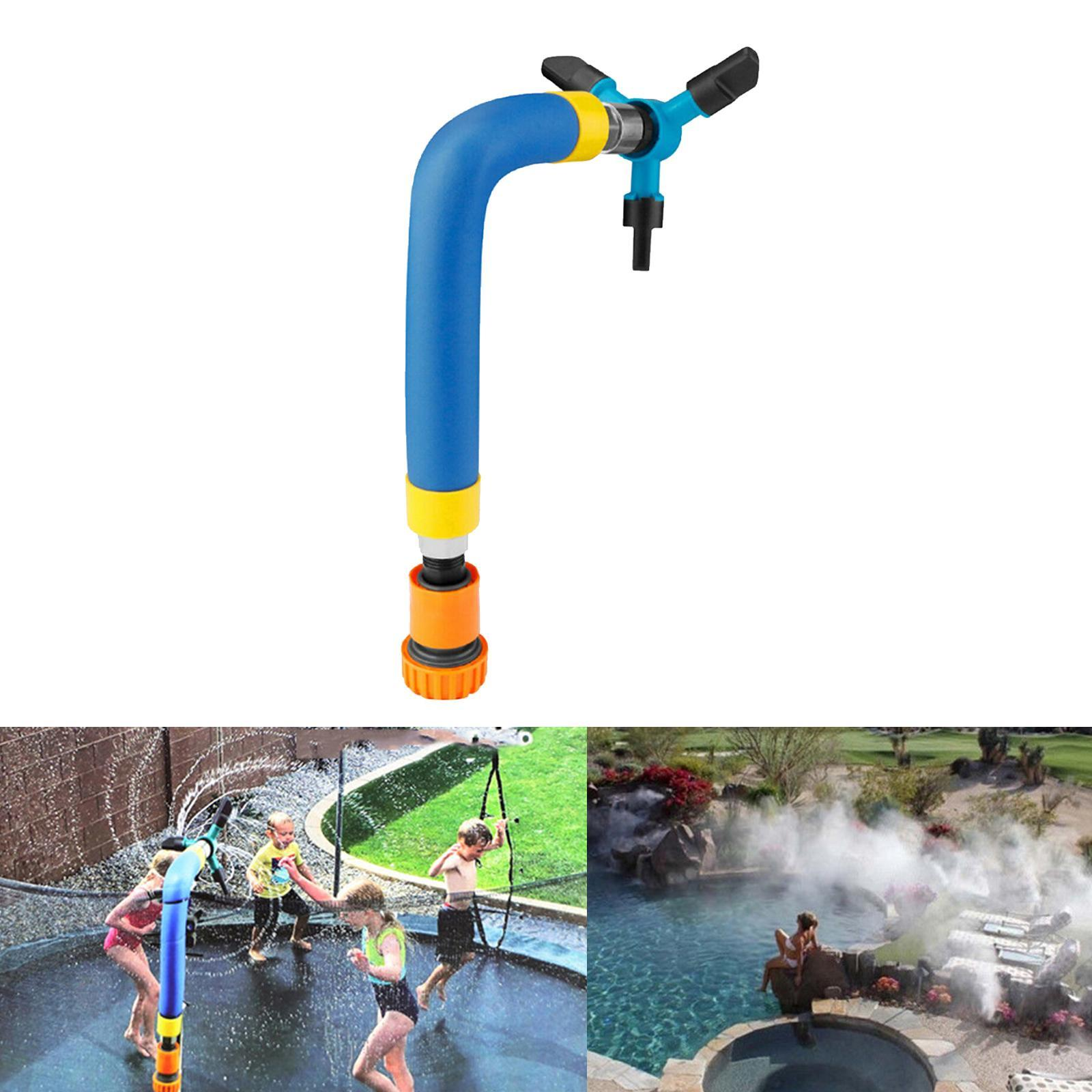 miniatura 21 - Trampolino di Acqua Sprinkler A Spruzzo Nebbia Giardino Estate Giochi