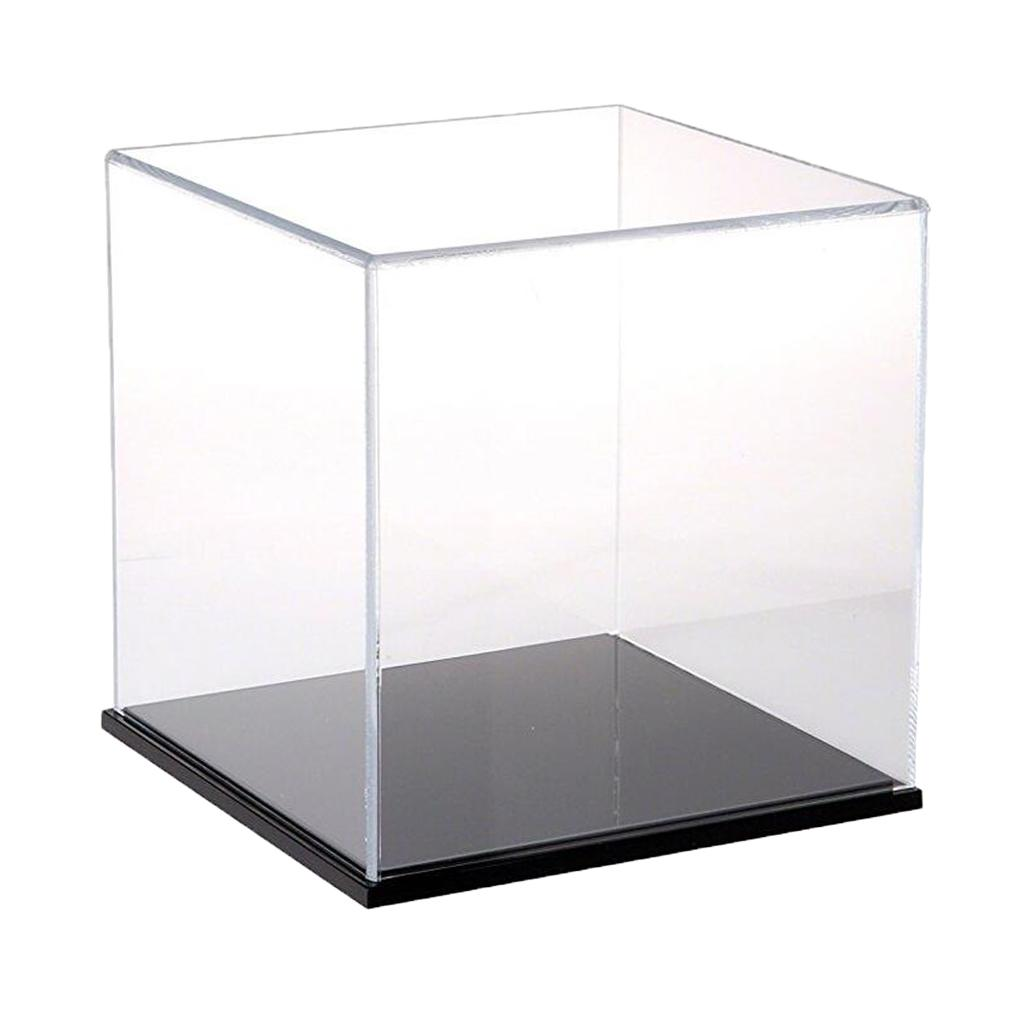 12cm Height Acrylic Display Case Dustproof Box Cube for Jewelry Showcase