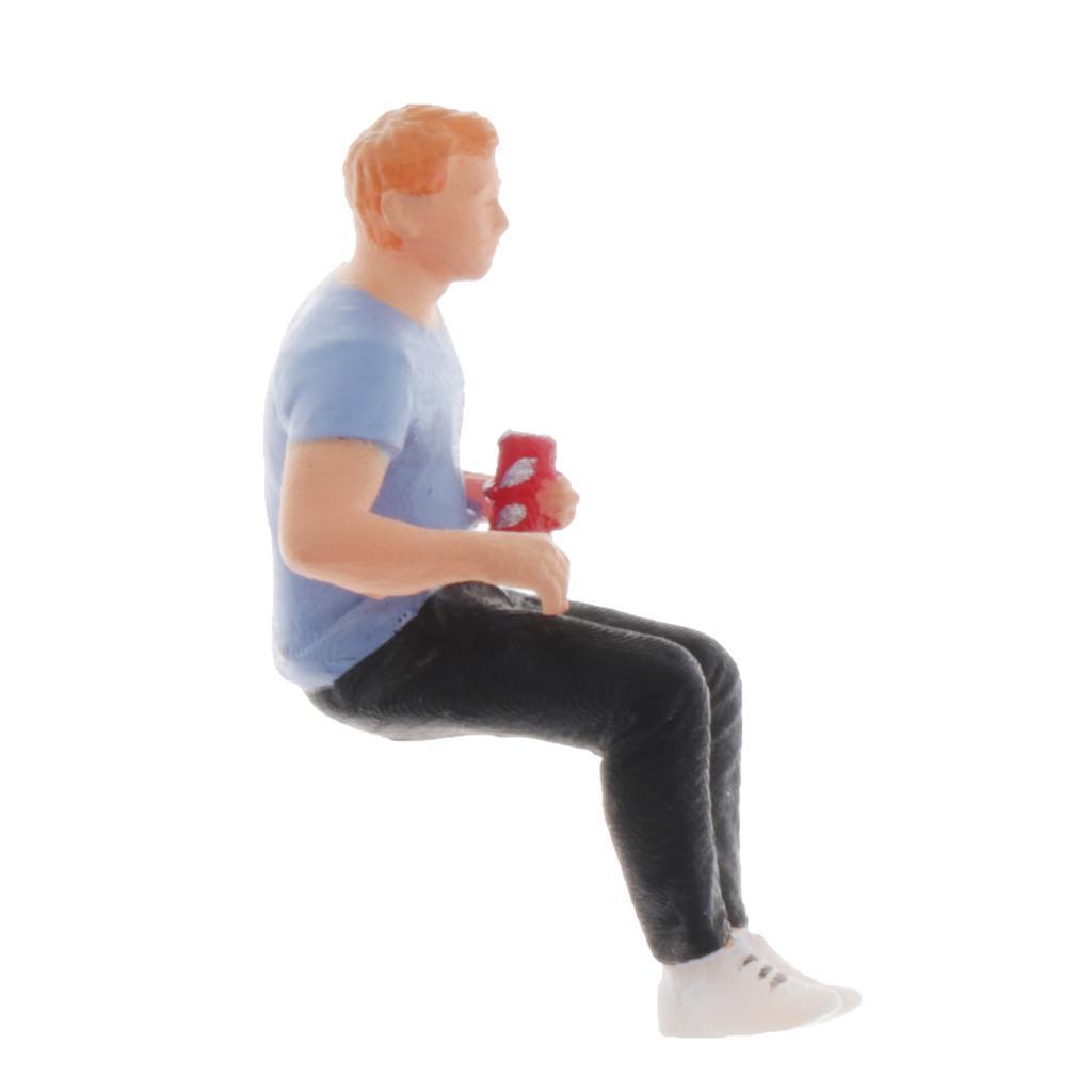 miniature 3 - 1/64 Diorama de Model Man Figurine Miniature Ornements de Personnes pour Jouer