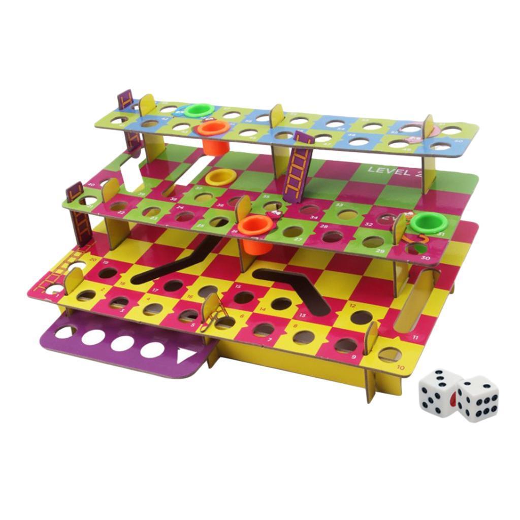 Jeu-de-famille-multiniveaux-serpent-et-echelles-bricolage-pour-amusement miniature 4