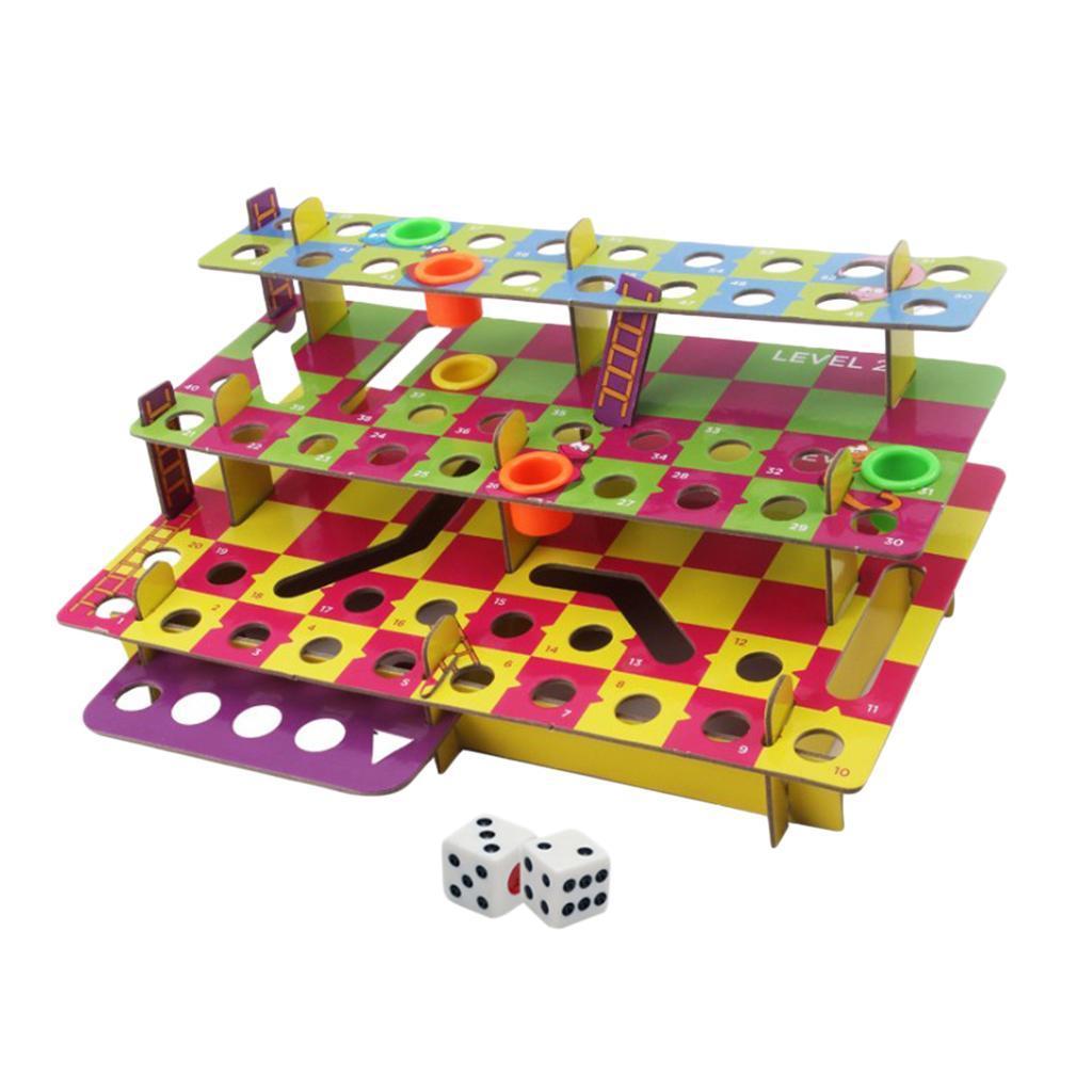 Jeu-de-famille-multiniveaux-serpent-et-echelles-bricolage-pour-amusement miniature 3