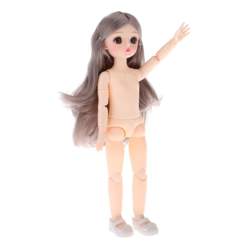 1-6-BJD-Doll-Body-3D-Big-Eyes-White-Skin-Girl-Dolls-Kids-Toys-DIY-Parts thumbnail 18