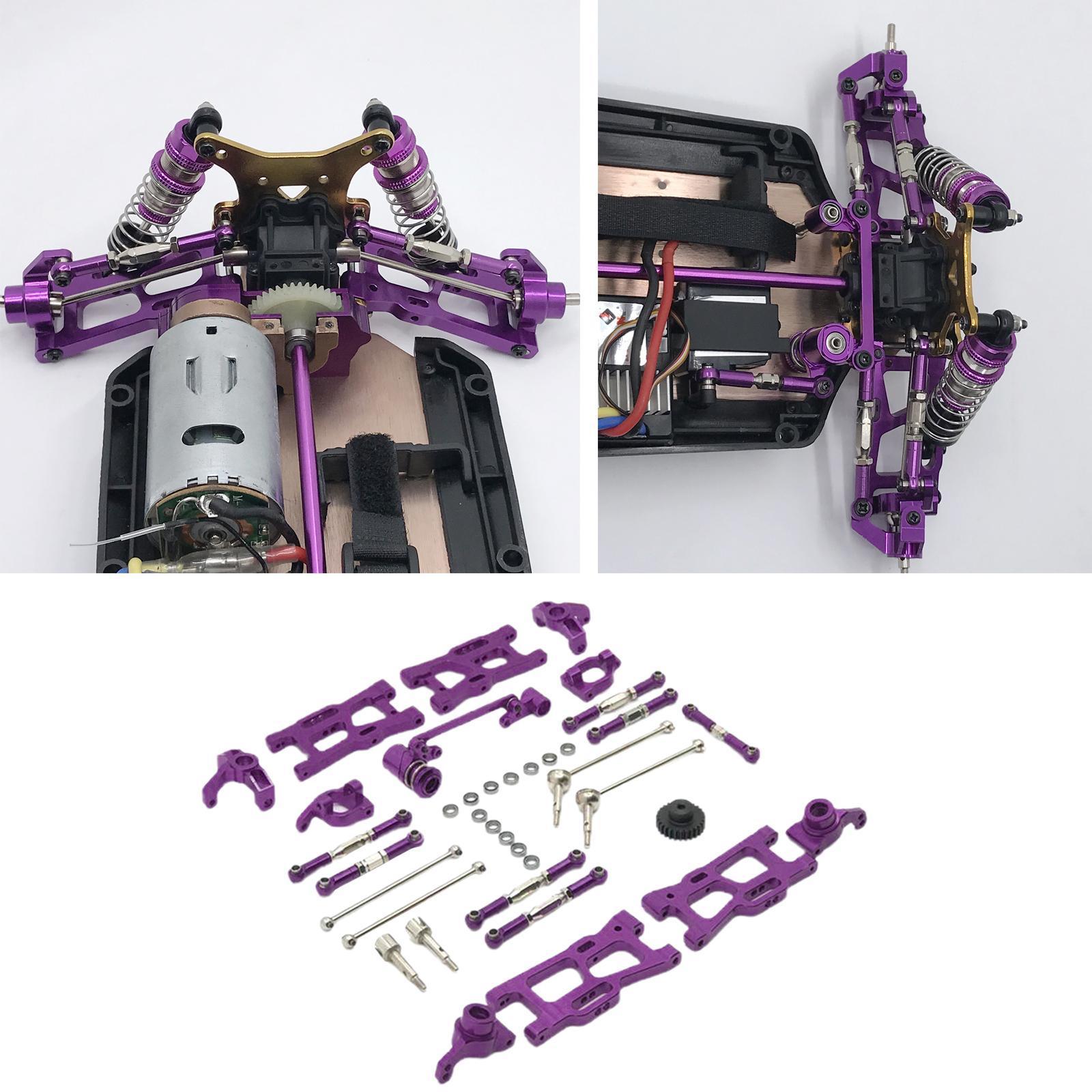 Metal Upgrades Parts Kit WLtoys 144001 124018 124019 Replaces Purple