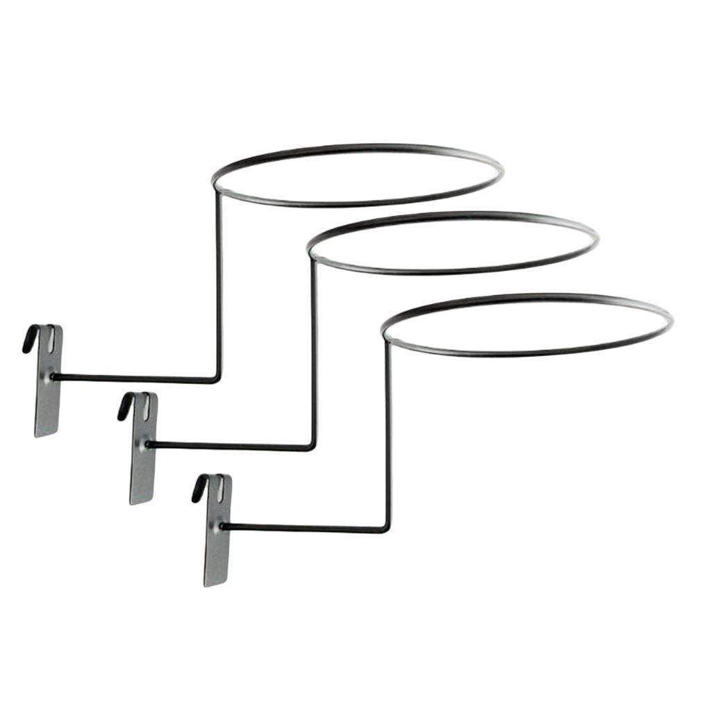 Supporto-per-casco-in-3-pezzi-supporto-per-cappello-supporto-a-muro-supporto miniatura 9