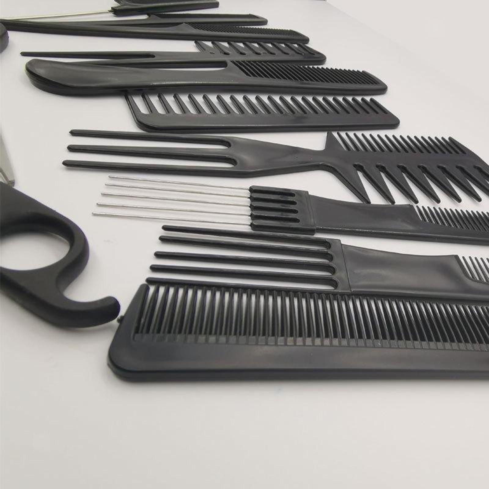 miniatura 13 - Parrucchiere barbiere spazzola per capelli pettine Set strumenti taglio capelli