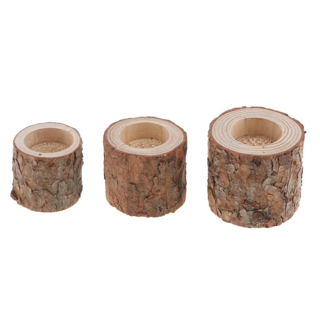 Tree-Stump-Candle-Holder-Tealight-Stand-Succulent-Planter-Votive-Candle-Base thumbnail 9