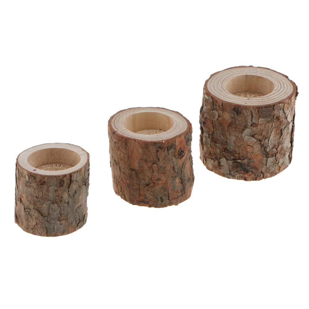Tree-Stump-Candle-Holder-Tealight-Stand-Succulent-Planter-Votive-Candle-Base thumbnail 10