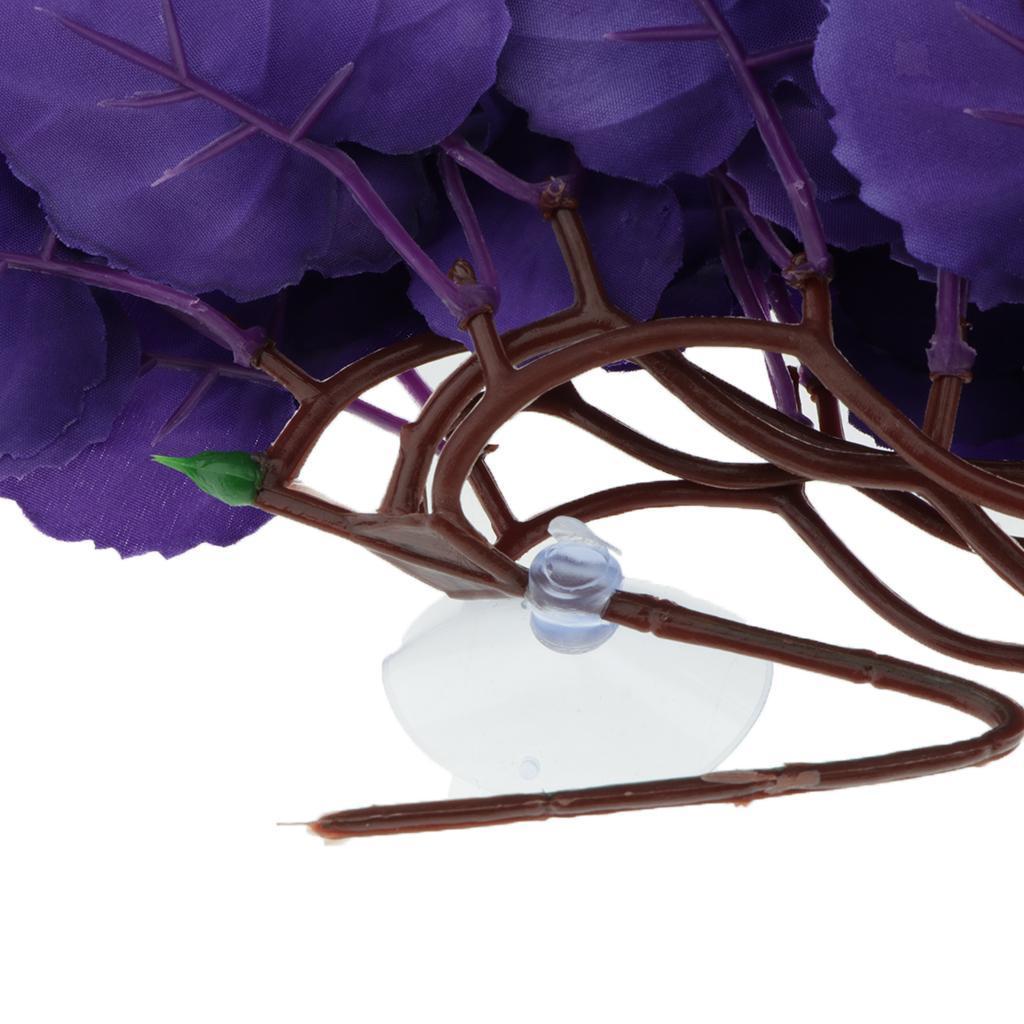 Reptile-Plantes-Plastique-terrarium-feuilles-d-039-aspiration-pour-Lezards-Geckos-serpent miniature 6