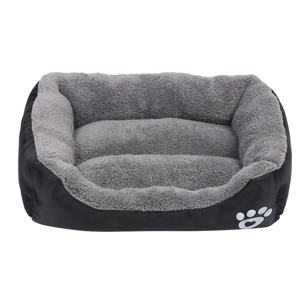 miniature 28 - Chaud chien chat calmant lit doux en peluche sac de couchage pour petits chiens