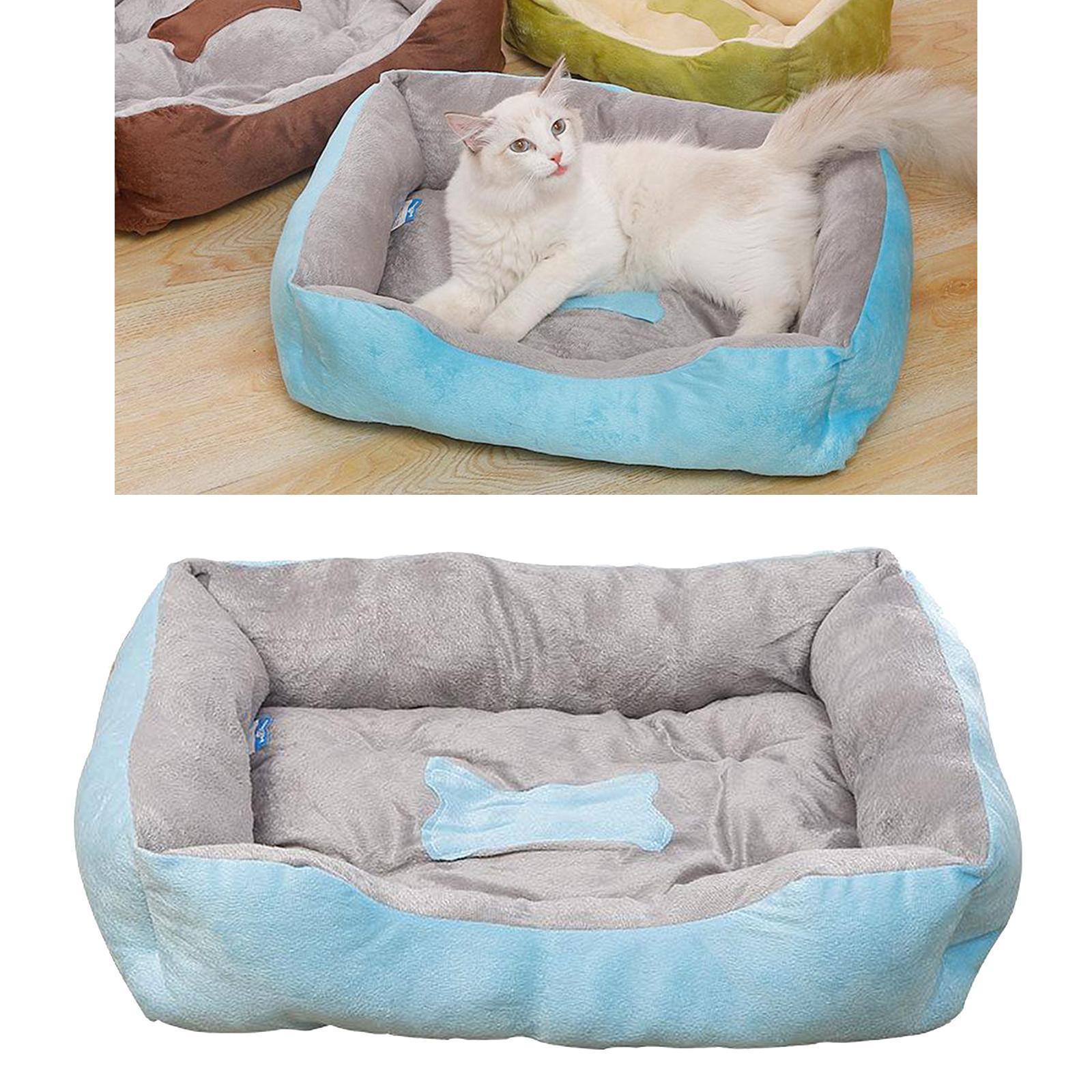Indexbild 67 - Katze-Hund-Bett-Pet-Kissen-Betten-Haus-Schlaf-Soft-Warmen-Zwinger-Decke-Nest