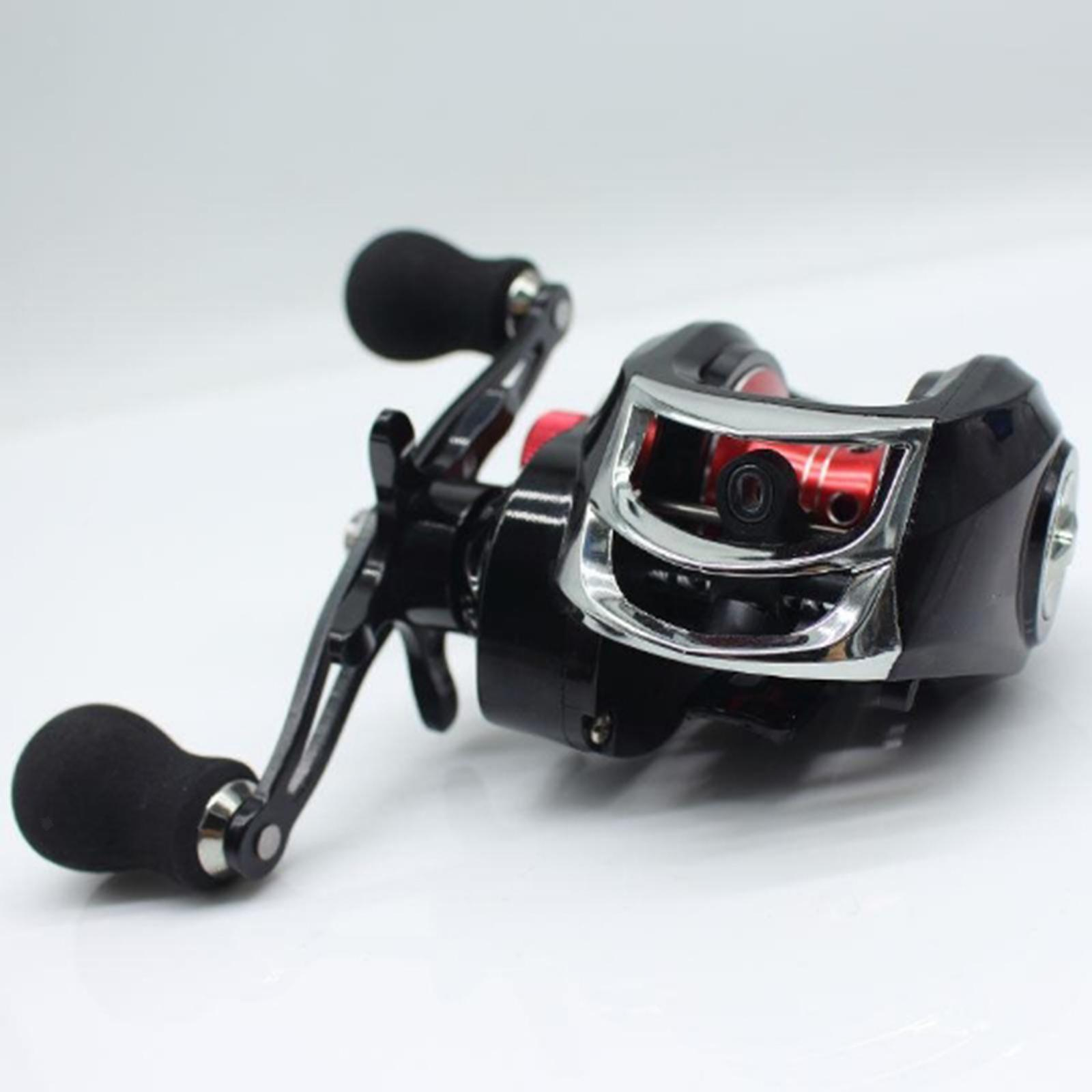 Full-Metal-Baitcaster-Low-Profile-Baitcasting-Fishing-Reel-Long-Casting-Reel thumbnail 8