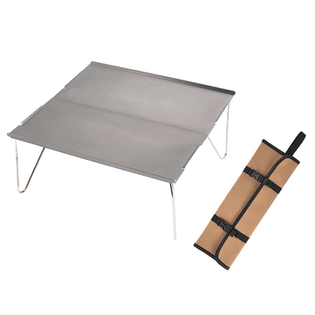 miniatura 7 - Piccolo tavolo da campeggio pieghevole leggero barbecue per roulotte da picnic