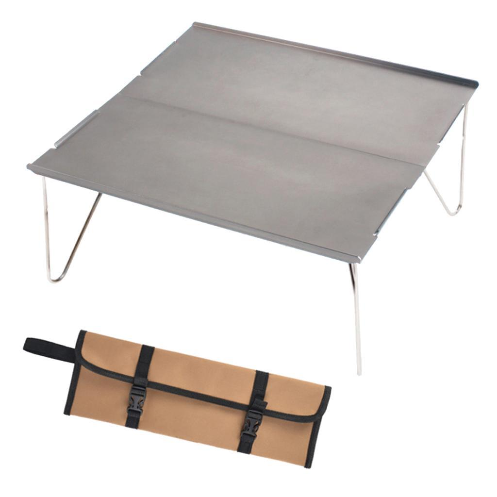 miniatura 6 - Piccolo tavolo da campeggio pieghevole leggero barbecue per roulotte da picnic