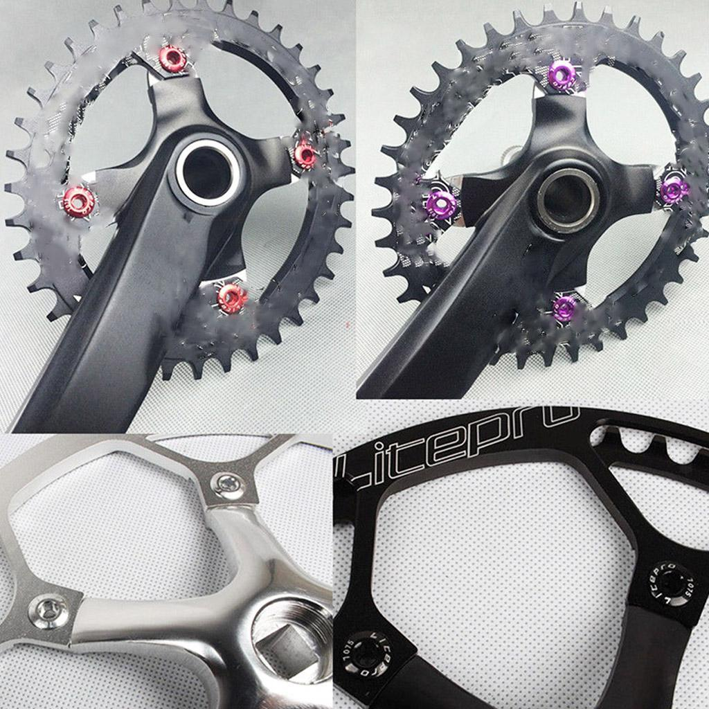 6PCS Bike Crank Arm Screw Bicycle Crankset Chainrings Bolts Cycling Parts