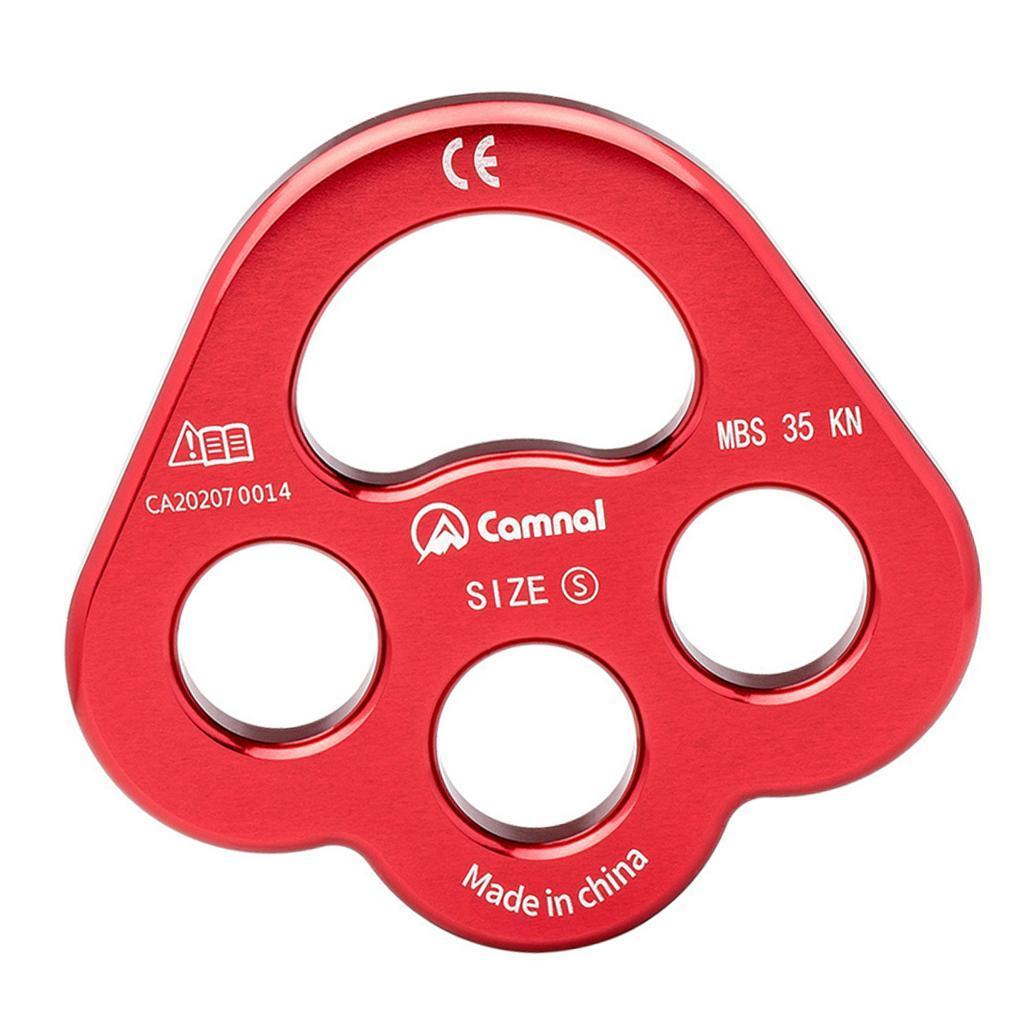 35KN Paw Rigging Plate for Caving Climbing /& Multiple Anchor Holes