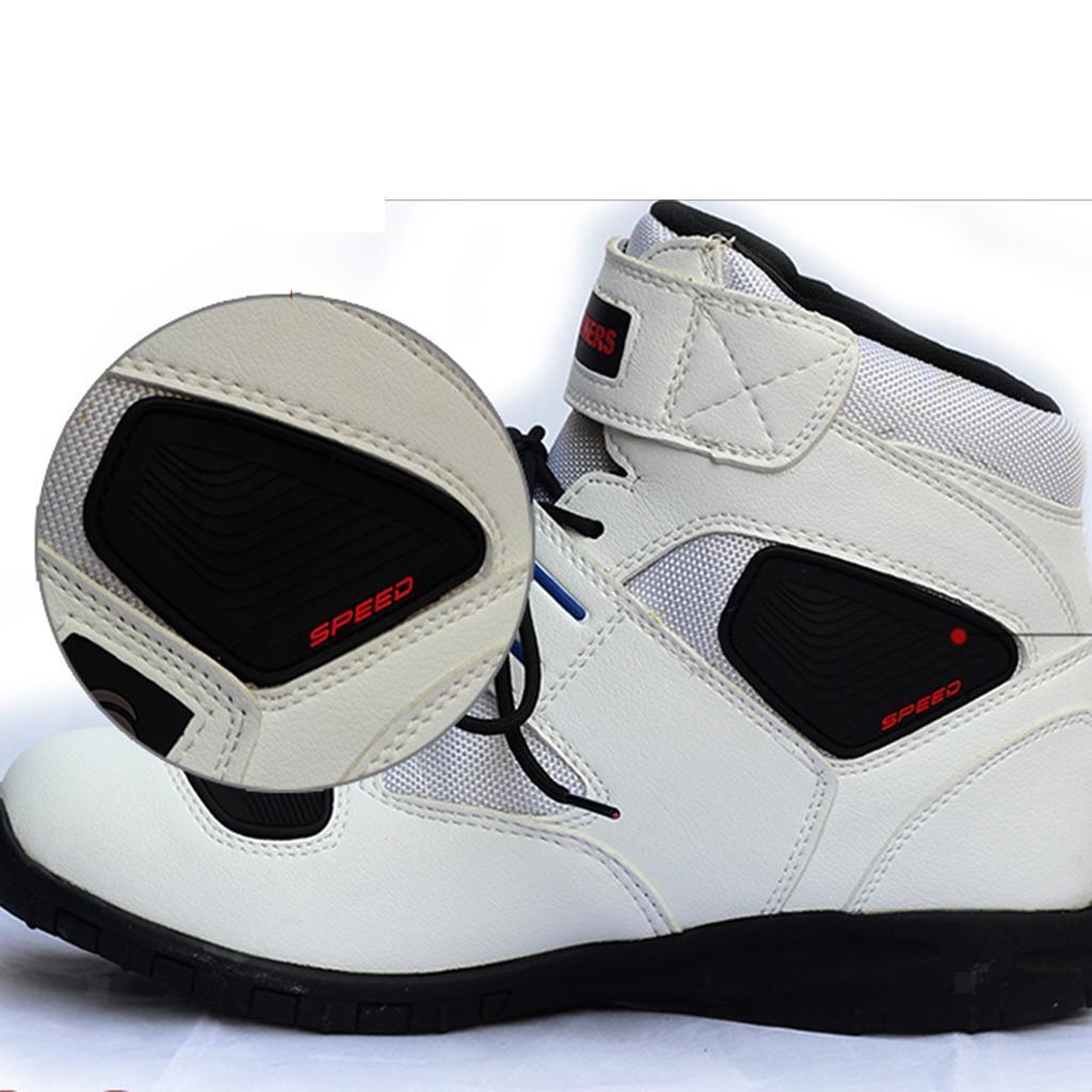 1-PAIA-CORTO-MOTO-Protezione-Caviglia-Stivali-Scarpe-Antiscivolo-Sports miniatura 9