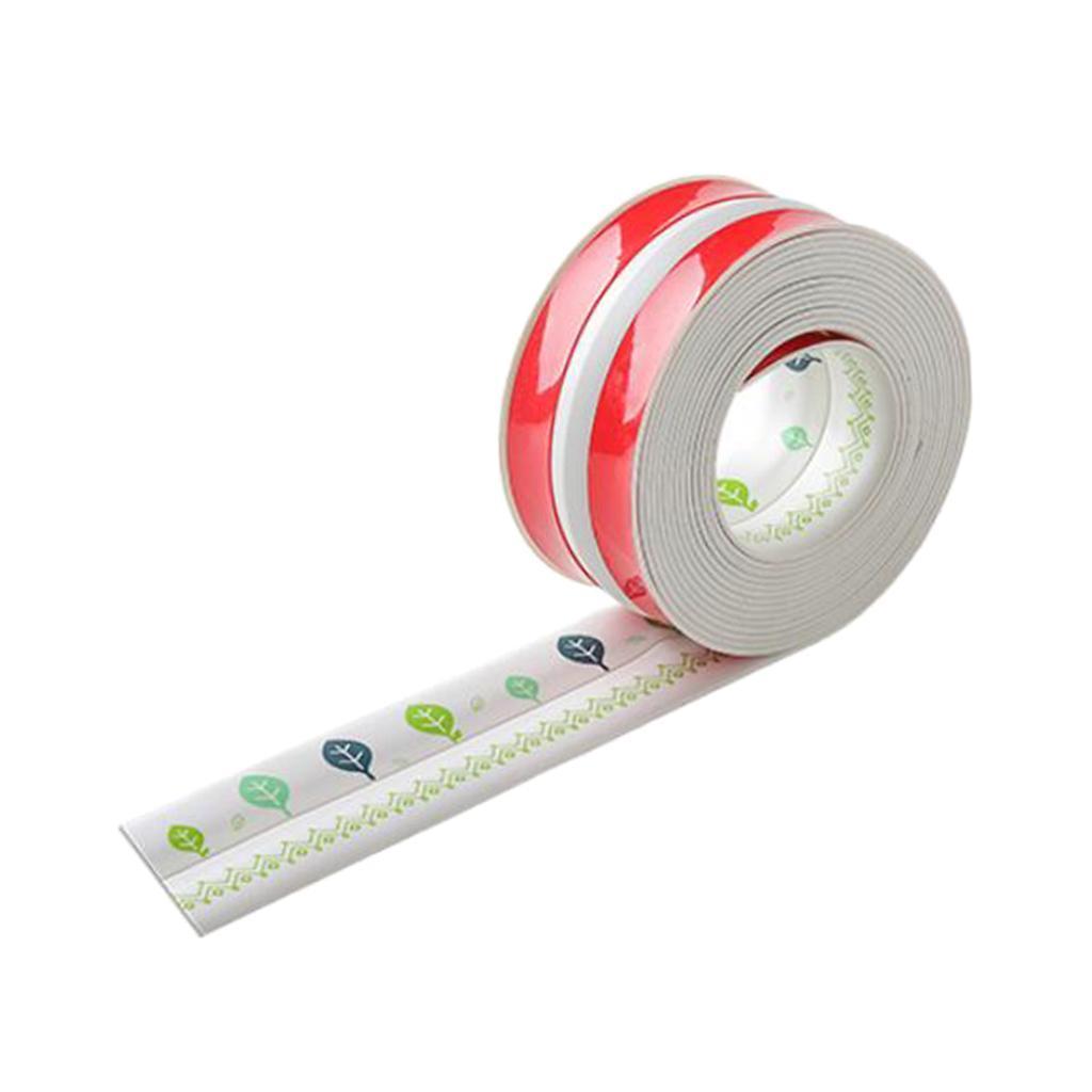 3.8cm Adhesive Sealing Tape Bath Wall Bathtub Floor Caulk ...