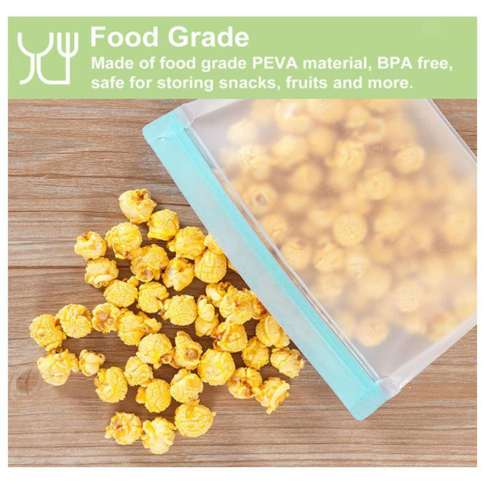 3-pezzi-di-Cibo-Sacchetto-di-Immagazzinaggio-Fresco-PEVA-Carne-Frutta-BPA-Libero miniatura 36