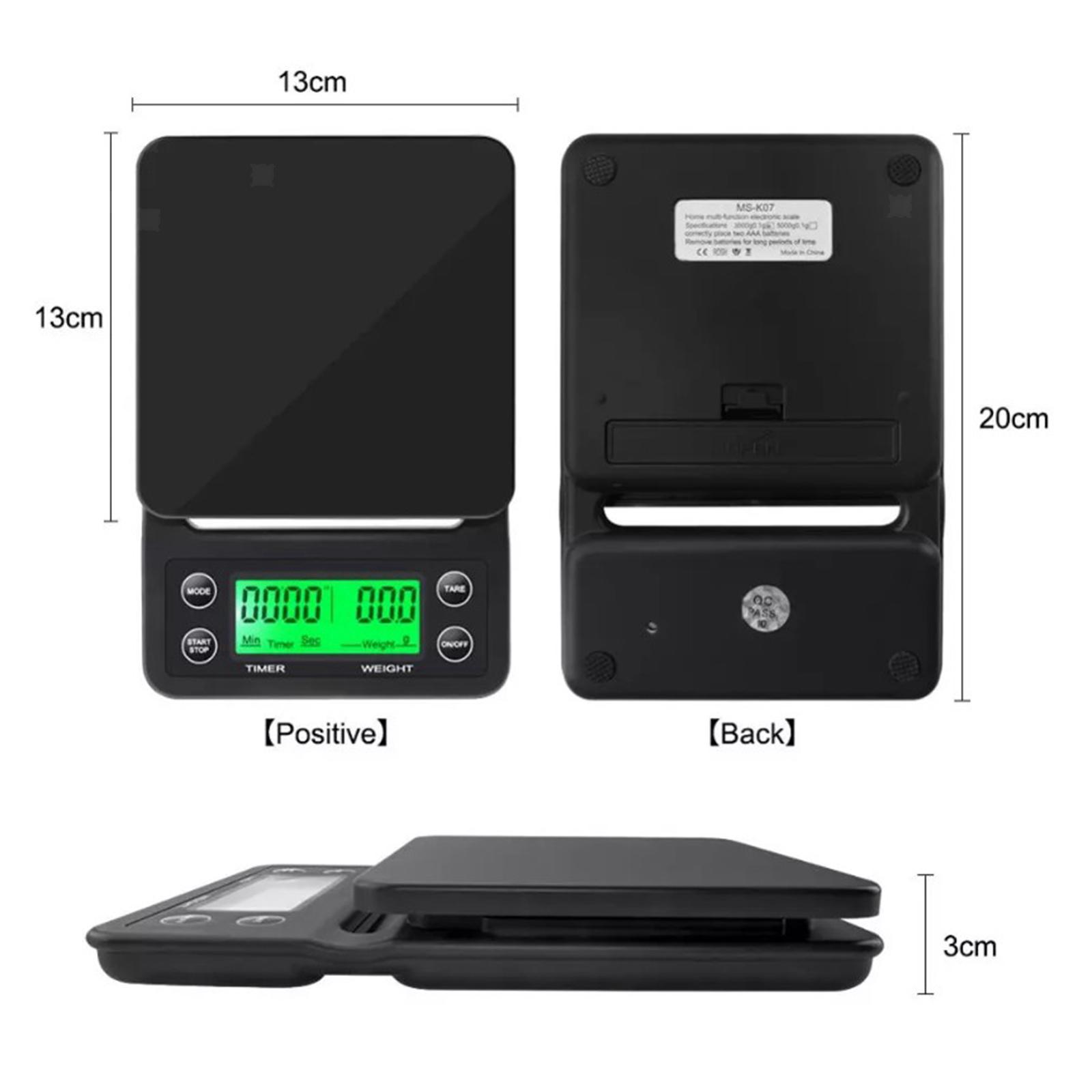 thumbnail 8 - Electronic LCD Digital Kitchen Food Scale Drip Coffee Weighing with Timer(Green)
