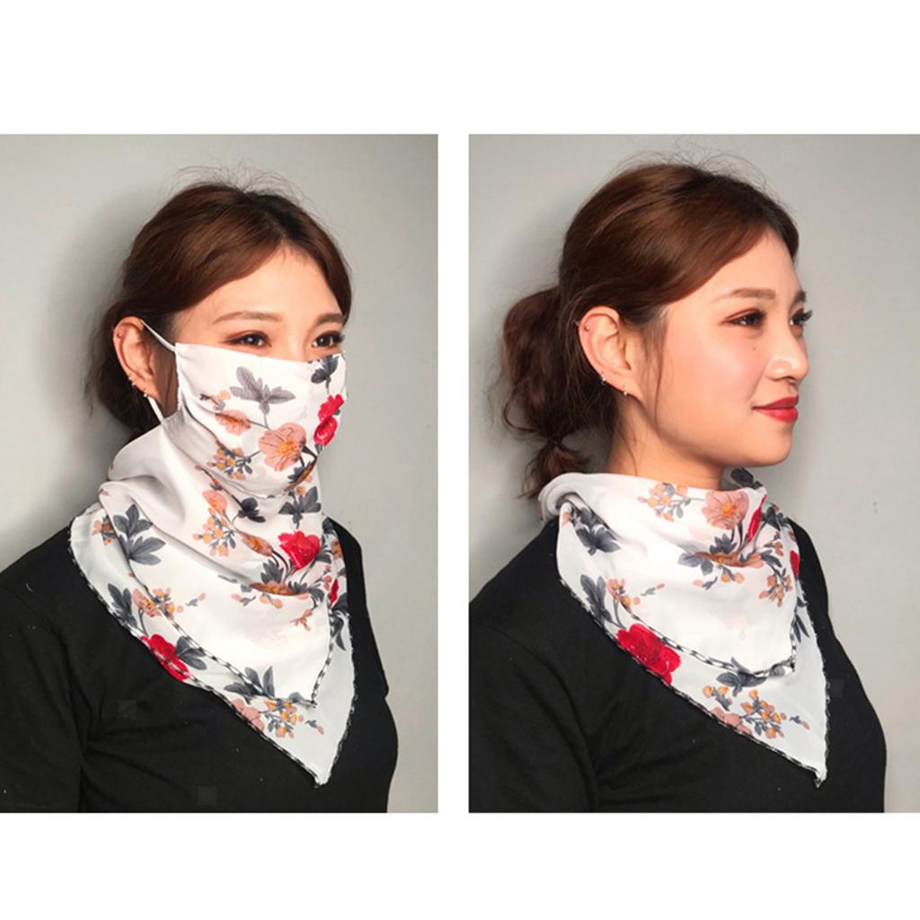 Femmes-demi-visage-masque-echarpe-bouche-couverture-exterieure-protection-UV miniature 13