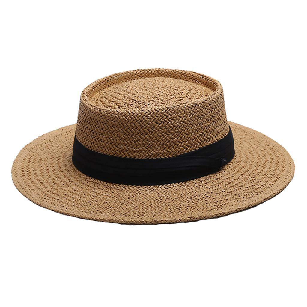 Summer Ladies Straw Foldable Fedora Floppy Sun Hat Wide Brim Beach Women#SUB3