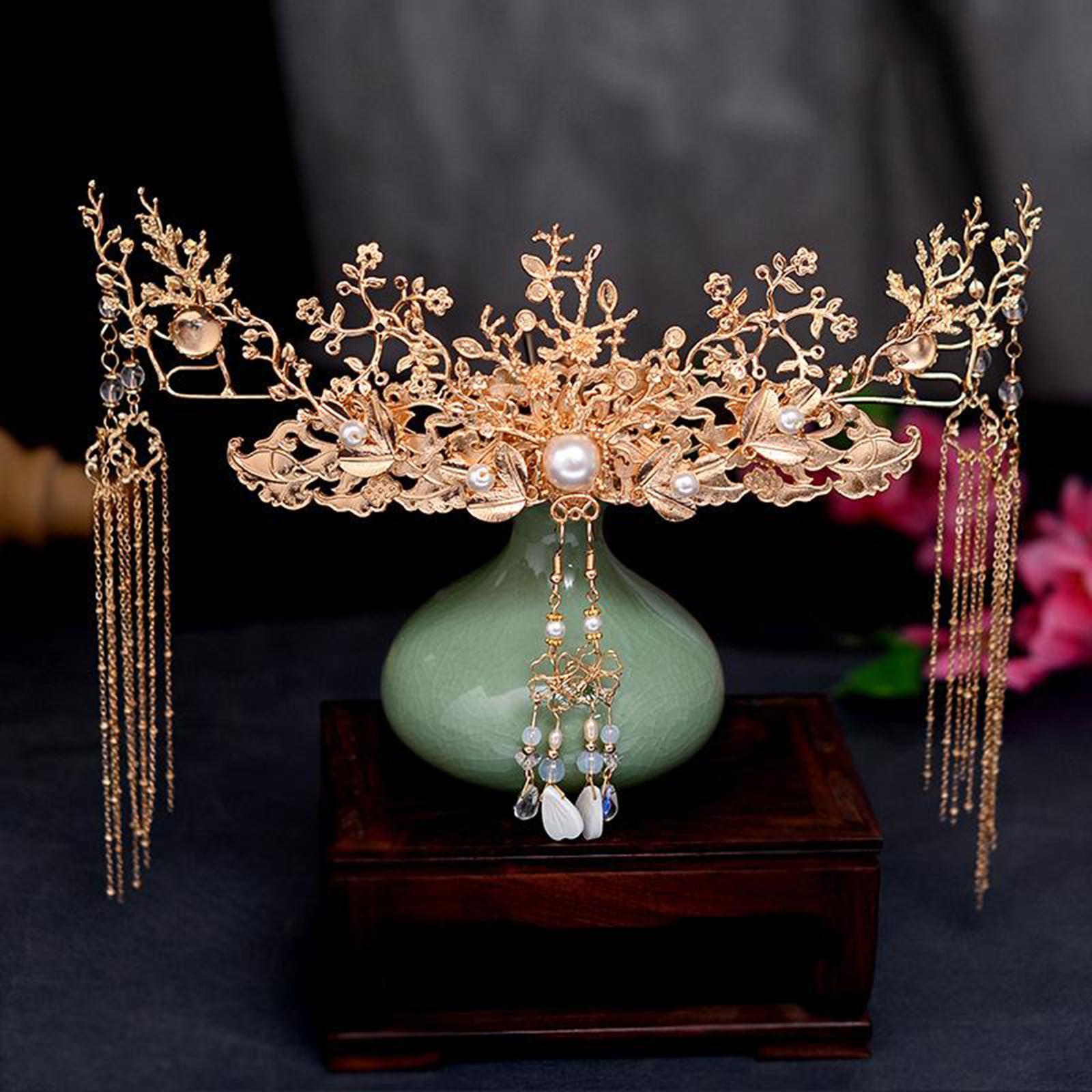 Chinese Hairpin Head Jewelry Wedding Headdress Accessories Long Tassels