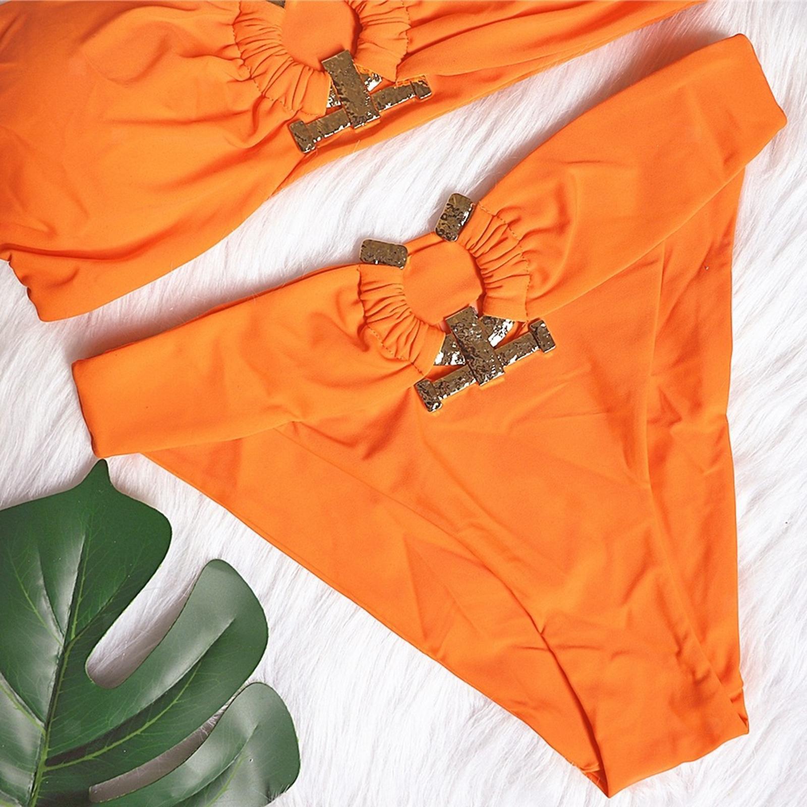 Indexbild 102 - Zwei Stücke Bikini Set Strappy Bademode Party Badeanzug Tankini Bademode