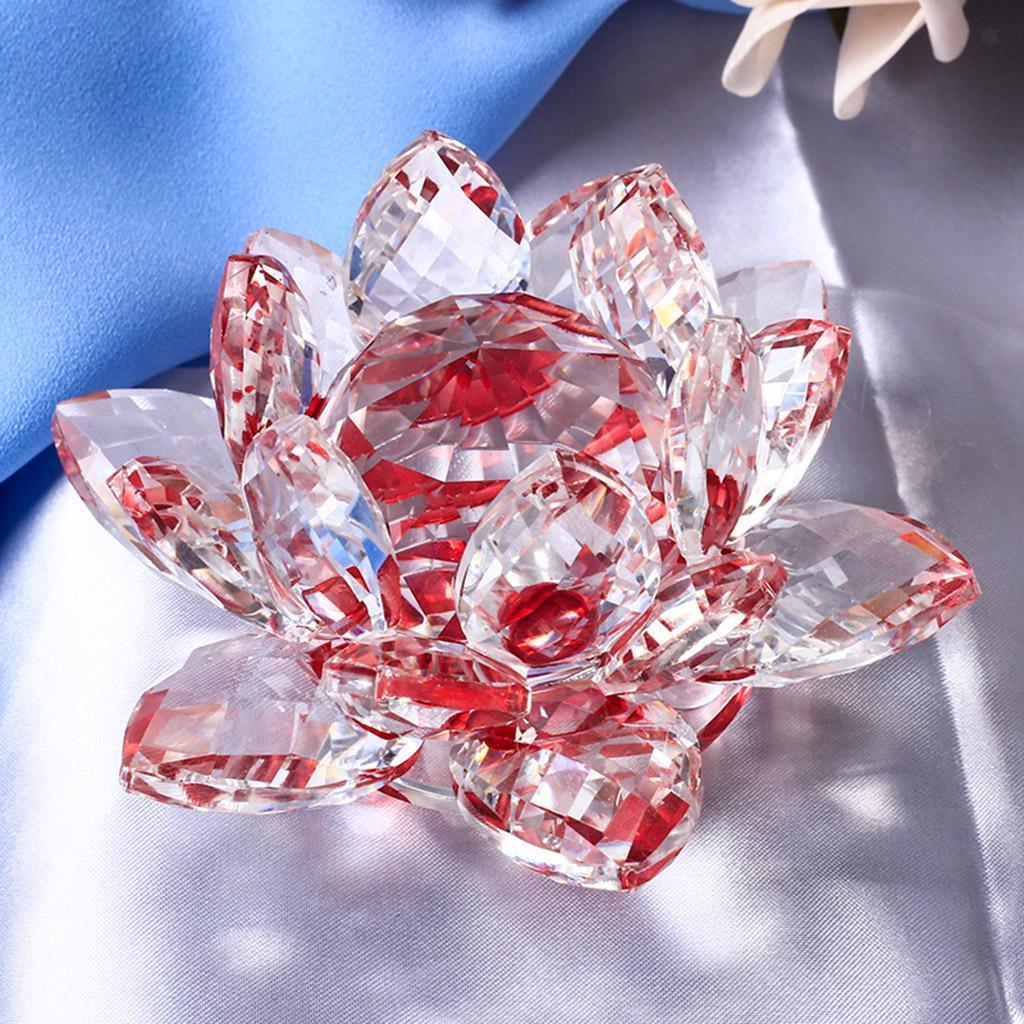 Ornameto-In-Cristallo-Stilo-Fiore-Loto-Feng-Shui-Arredamento-Interno miniatura 20