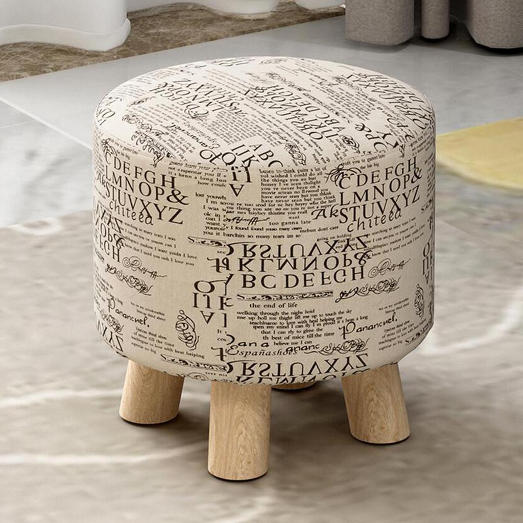miniatura 7 - Cuscino-Pad-per-Sgabello-da-Bar-Fodera-Coprisedia-Rotonda-in-Tela-di-Cotone