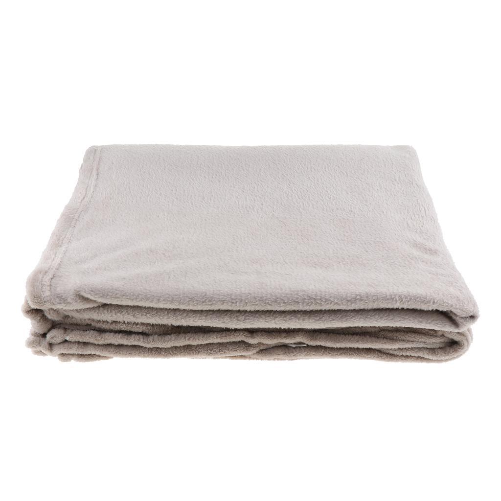 Bequeme weiche warme Plüsch Gemütliche Bett Couch Decke Pflegeleicht Grau 3