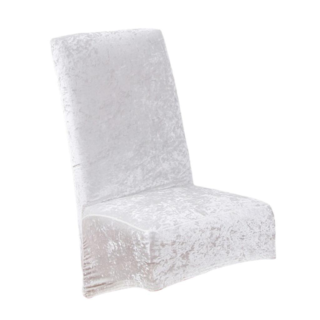 Housses-de-chaise-de-salle-a-manger-Housses-de-siege-coulissantes-en-velours miniature 6