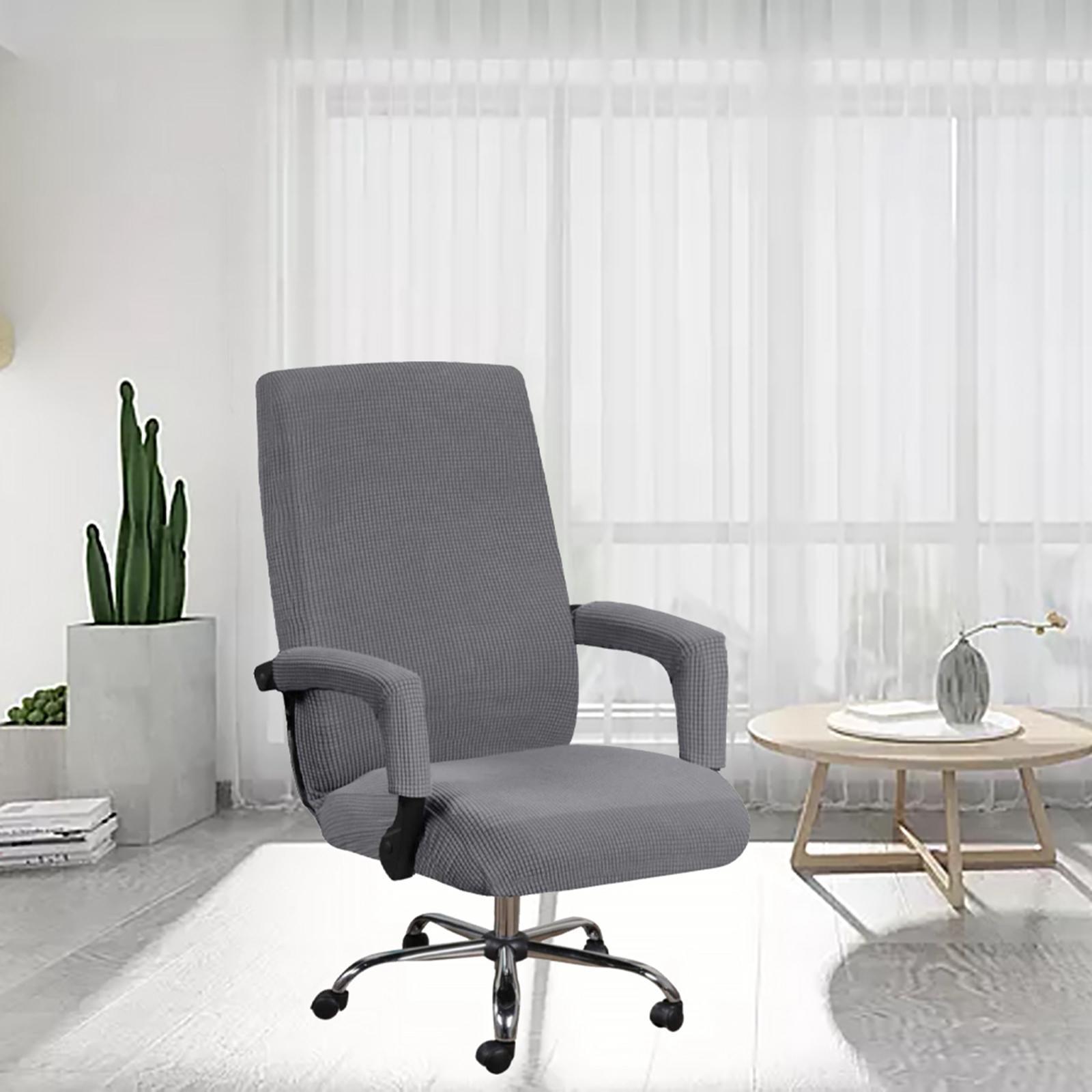 miniature 16 - Housses de chaise de bureau contemporaines à dossier haut et 2 housses de bras